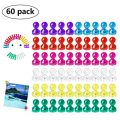 Wukong 60 Piezas Color Strong Imanes de nevera Whiteboard Magnets Magnetic Push...